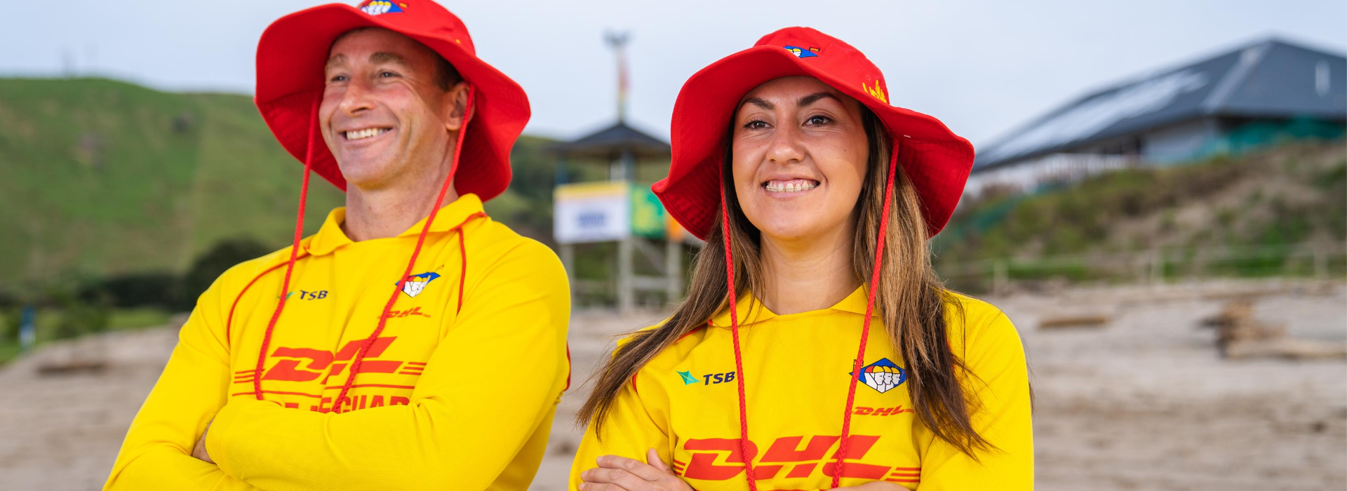 Male Female Surf Lifeguards Smiling Happy Faces 3
