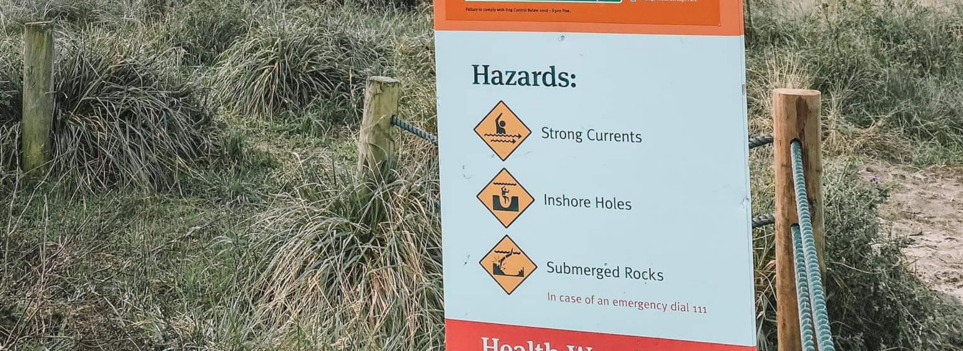 Hazards Sign Image for Beach Safety Page