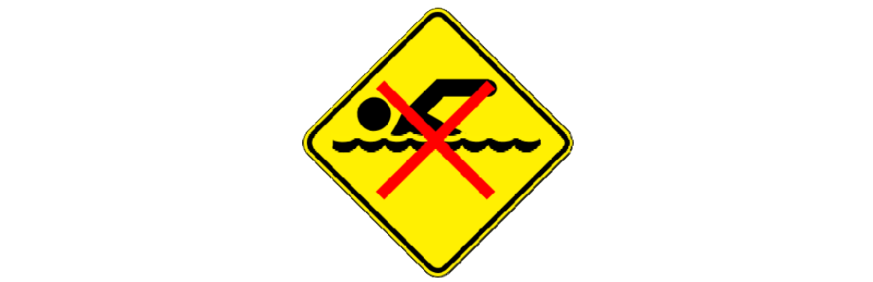 Swimming not advised