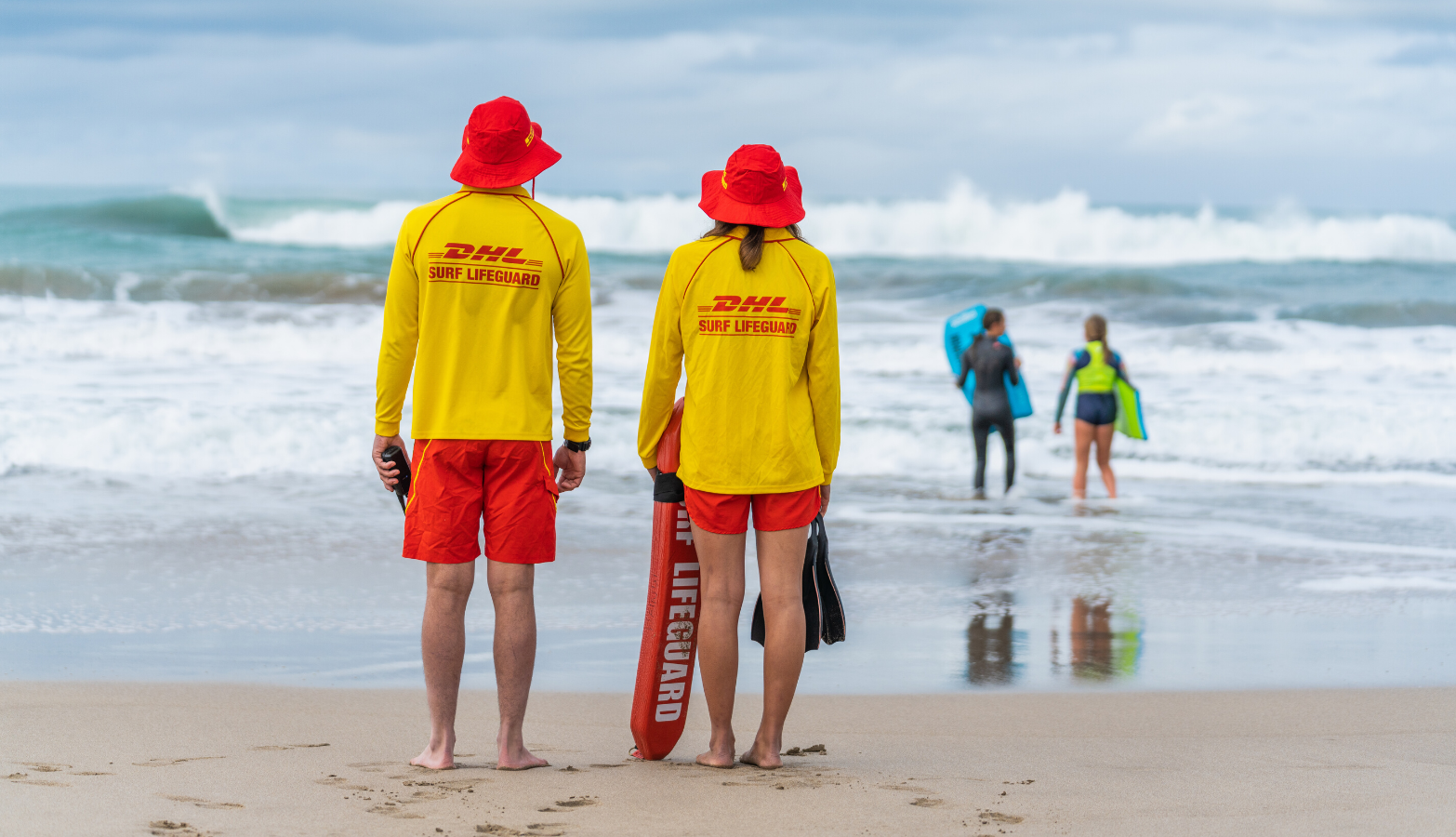 Image of Lifeguards watching beach