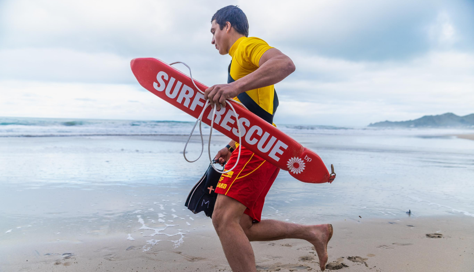 Mail Surf Lifeguard Rescue Tube Close up