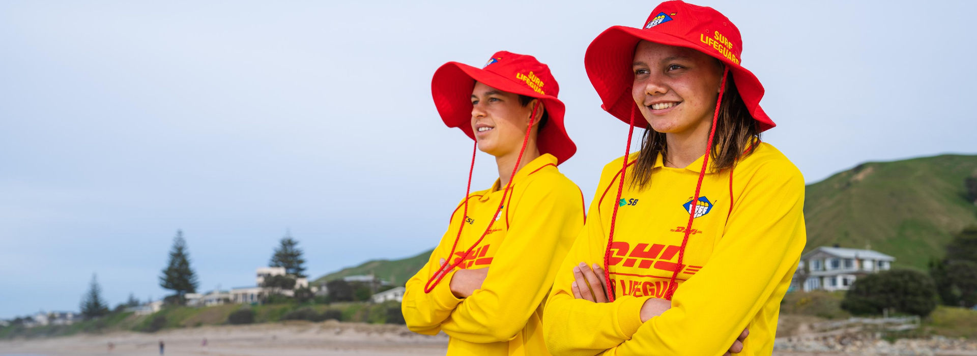 Male Female Surf Lifeguards Smiling Happy Faces 1