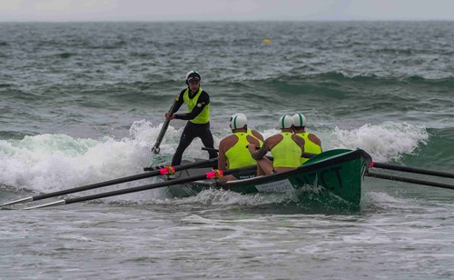 Titahi Bay surf boats sweep Wil McDowall (standing), has been named Sportsperson of the Year for 2019.